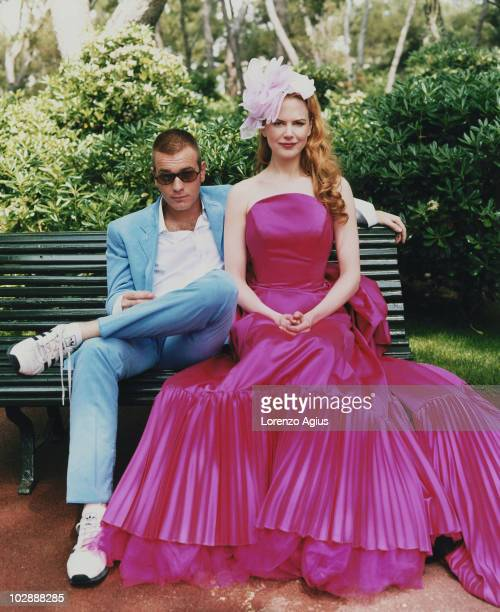 Actor Nicole Kidman and Ewan McGregor pose for a portrait shoot on May 29 2001 in London