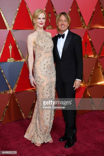 Actor Nicole Kidman and Musician Keith Urban attends the 89th Annual Academy Awards at Hollywood Highland Center on February 26 2017 in Hollywood...