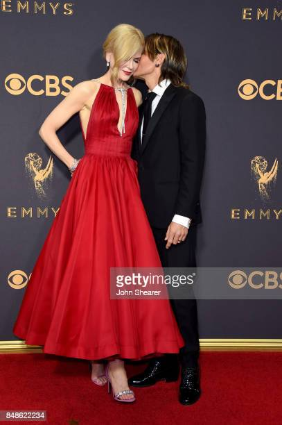 Actor Nicole Kidman and recording artist Keith Urban attend the 69th Annual Primetime Emmy Awards at Microsoft Theater on September 17 2017 in Los...