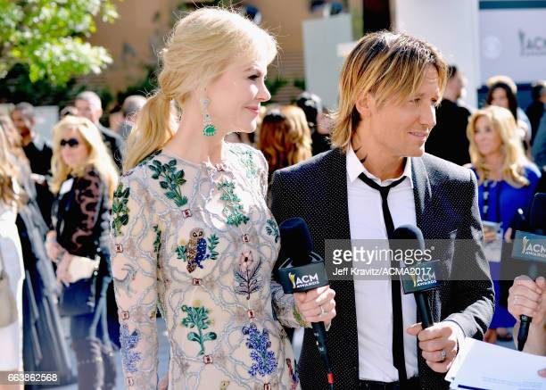Actor Nicole Kidman and singer Keith Urban attend the 52nd Academy Of Country Music Awards at Toshiba Plaza on April 2 2017 in Las Vegas Nevada