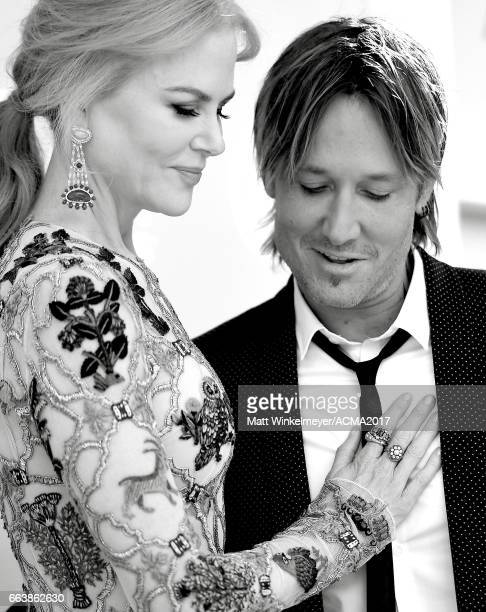 Actor Nicole Kidman and singer Keith Urban attend the 52nd Academy Of Country Music Awards at TMobile Arena on April 2 2017 in Las Vegas Nevada