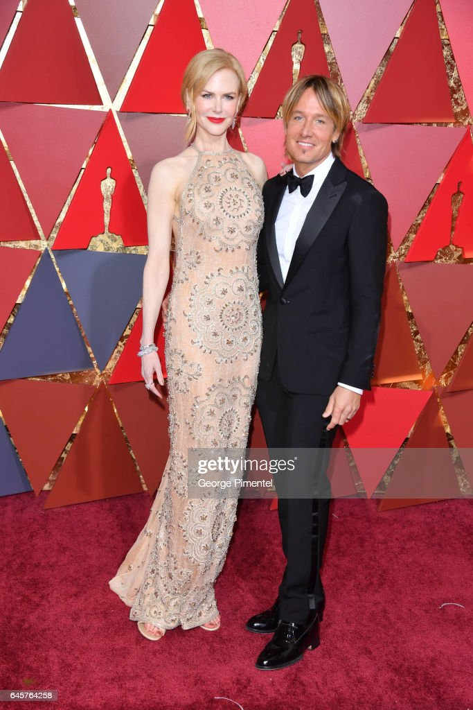 Actor Nicole Kidman (R) and singer Keith Urban attend the 89th Annual Academy Awards at Hollywood & Highland Center on February 26, 2017 in Hollywood, California.
