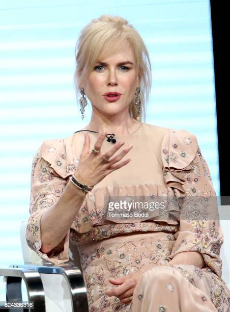 Actor Nicole Kidman of 'Top of the Lake China Girl'' speaks onstage during the Sundance TV portion of the 2017 Summer Television Critics Association...