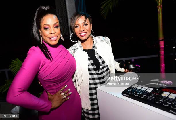 Actor Niecy Nash and DJ MC Lyte attend the after party for the premiere of TNT's 'Claws' at Harmony Gold Theatre on June 1 2017 in Los Angeles...