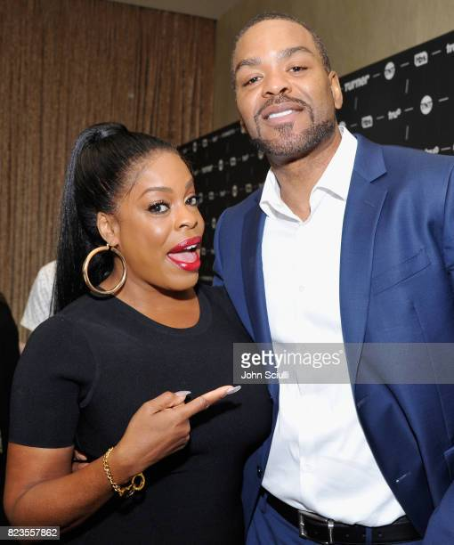 Actor Niecy Nash and Method Man at the TCA Turner Summer Press Tour 2017 Green Room at The Beverly Hilton Hotel on July 27 2017 in Beverly Hills...