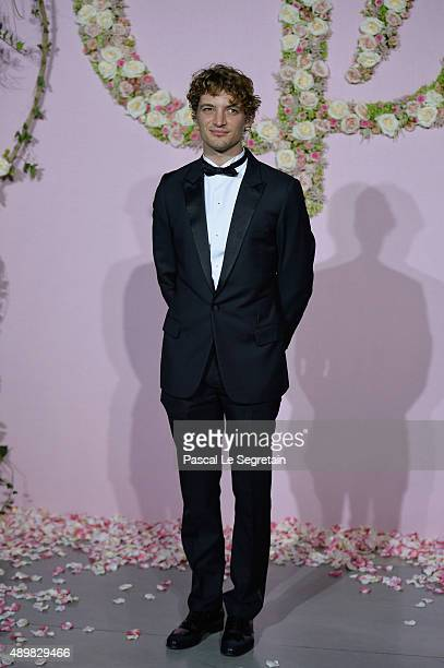 Actor Niels Schneider attends a photocall during The Ballet National de Paris Opening Season Gala at Opera Garnier on September 24 2015 in Paris...