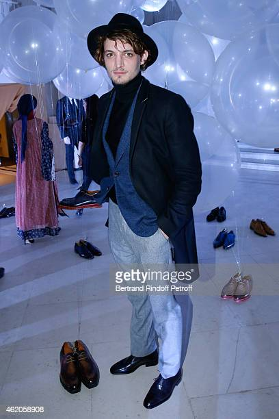 Actor Niels Schneider attends the Berluti Menswear Fall/Winter 20152016 Show as part of Paris Fashion Week Held at Musee des Arts Decoratifs on...