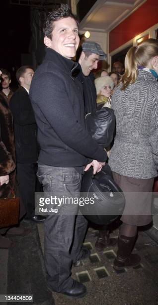 Actor Nigel Harman arrives at 'The Lover'/'The Collection' Press Night at the Comedy Theatre on January 29 2008 in London England