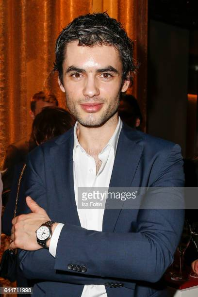 Actor Nik Xhelilaj attends the Wempe store opening with the Rolls Royce shuttels in front of the store on February 23 2017 in Munich Germany