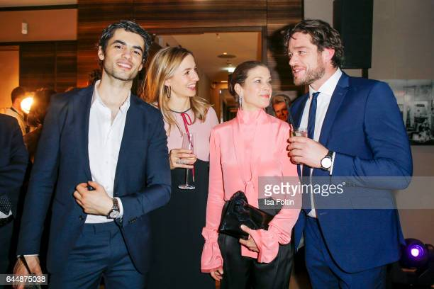 Actor Nik Xhelilaj german actress Annika Blendl german actress Marie Baeumer and german actor Ronlad Zehrfeld attend the Wempe store opening on...
