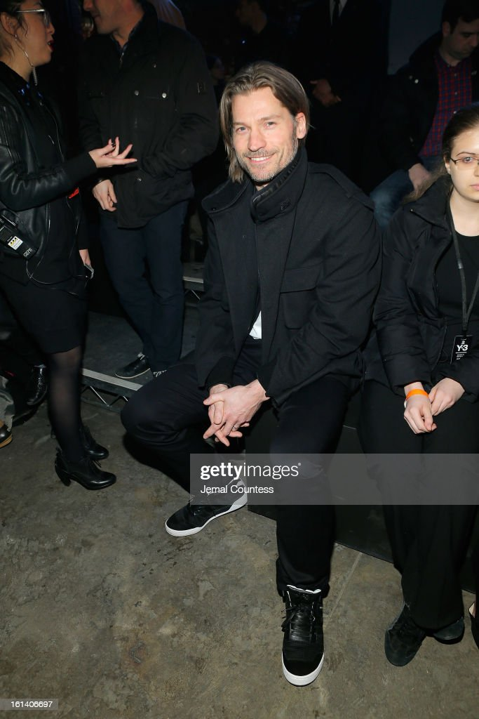Actor <a gi-track='captionPersonalityLinkClicked' href=/galleries/search?phrase=Nikolaj+Coster+Waldau&family=editorial&specificpeople=4196725 ng-click='$event.stopPropagation()'>Nikolaj Coster Waldau</a> attends the Y-3 AW13 Show during Mercedes-Benz Fashion Week on February 10, 2013 in New York City.