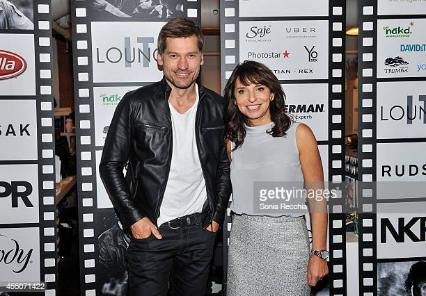 Actor Nikolaj CosterWaldau and director Susanne Bier attend the NKPR IT Lounge Portrait Studio With W Magazine on Day 6 during the 2014 Toronto...