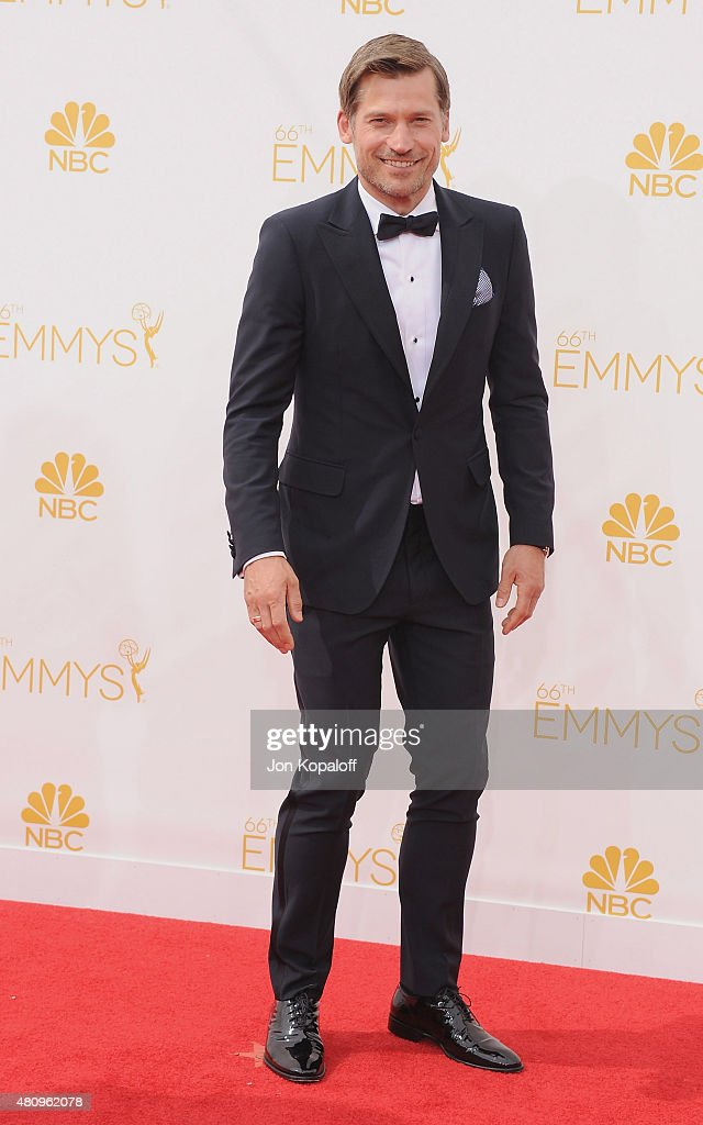 Actor Nikolaj Coster-Waldau arrives at the 66th Annual Primetime Emmy Awards at Nokia Theatre L.A. Live on August 25, 2014 in Los Angeles, California.