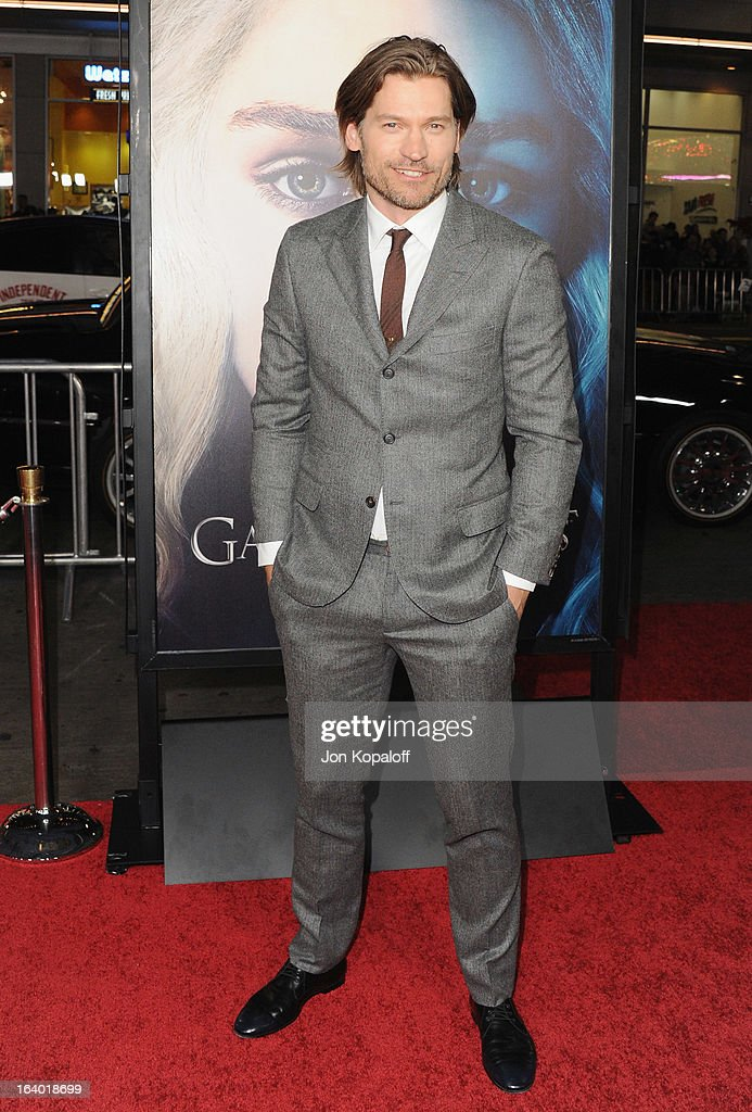 Actor Nikolaj Coster-Waldau arrives at the Los Angeles Premiere of HBO's 'Game Of Thrones' Season 3 at TCL Chinese Theatre on March 18, 2013 in Hollywood, California.