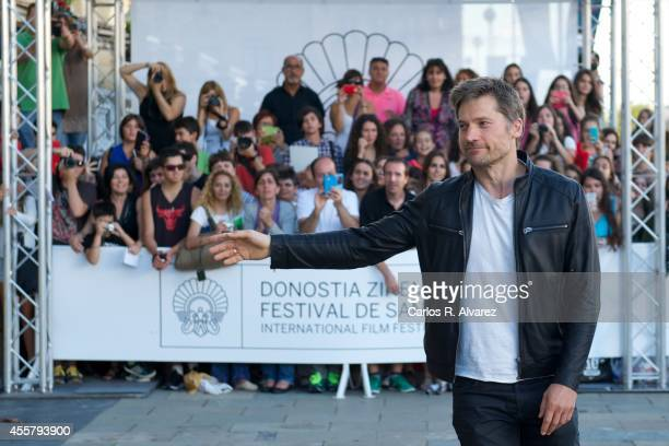 Actor Nikolaj CosterWaldau arrives at the Maria Cristina Hotel during the 62st San Sebastian International Film Festival on September 20 2014 in San...