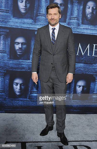 Actor Nikolaj CosterWaldau arrives at the Premiere Of HBO's 'Game Of Thrones' Season 6 at TCL Chinese Theatre on April 10 2016 in Hollywood California