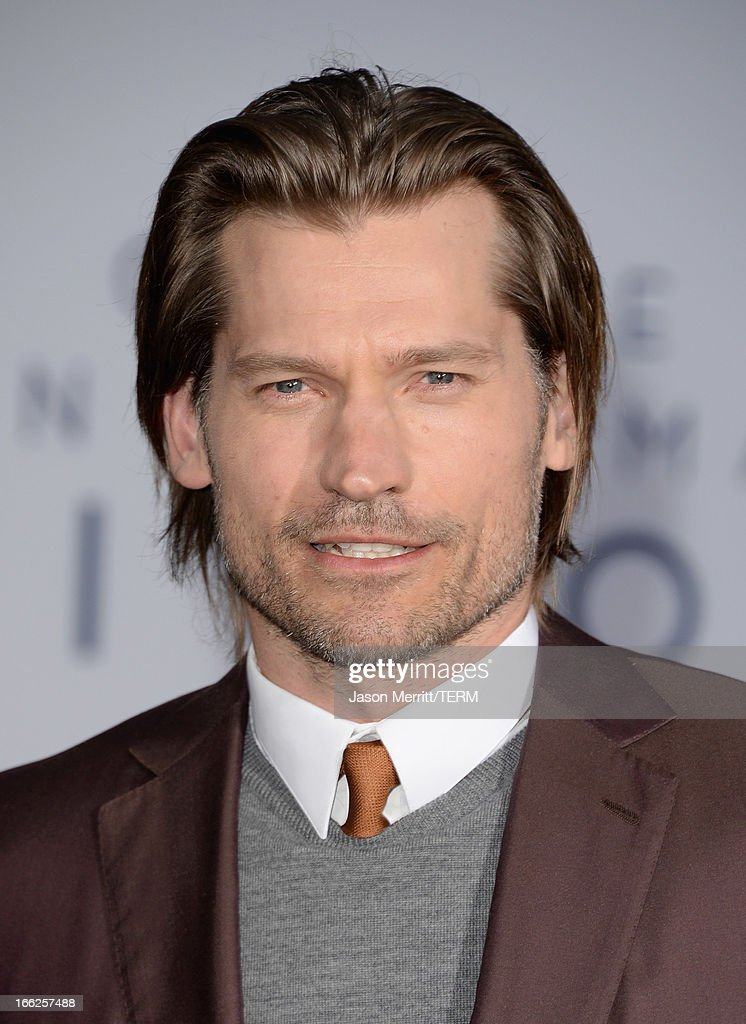 Actor Nikolaj Coster-Waldau arrives at the premiere of Universal Pictures' 'Oblivion' at Dolby Theatre on April 10, 2013 in Hollywood, California.