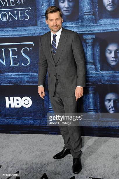 Actor Nikolaj CosterWaldau arrives for the Premiere Of HBO's 'Game Of Thrones' Season 6 held at TCL Chinese Theatre on April 10 2016 in Hollywood...