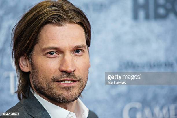 Actor Nikolaj CosterWaldau attends HBO's 'Game Of Thrones' season 3 premiere at Cinerama Theater on March 21 2013 in Seattle Washington