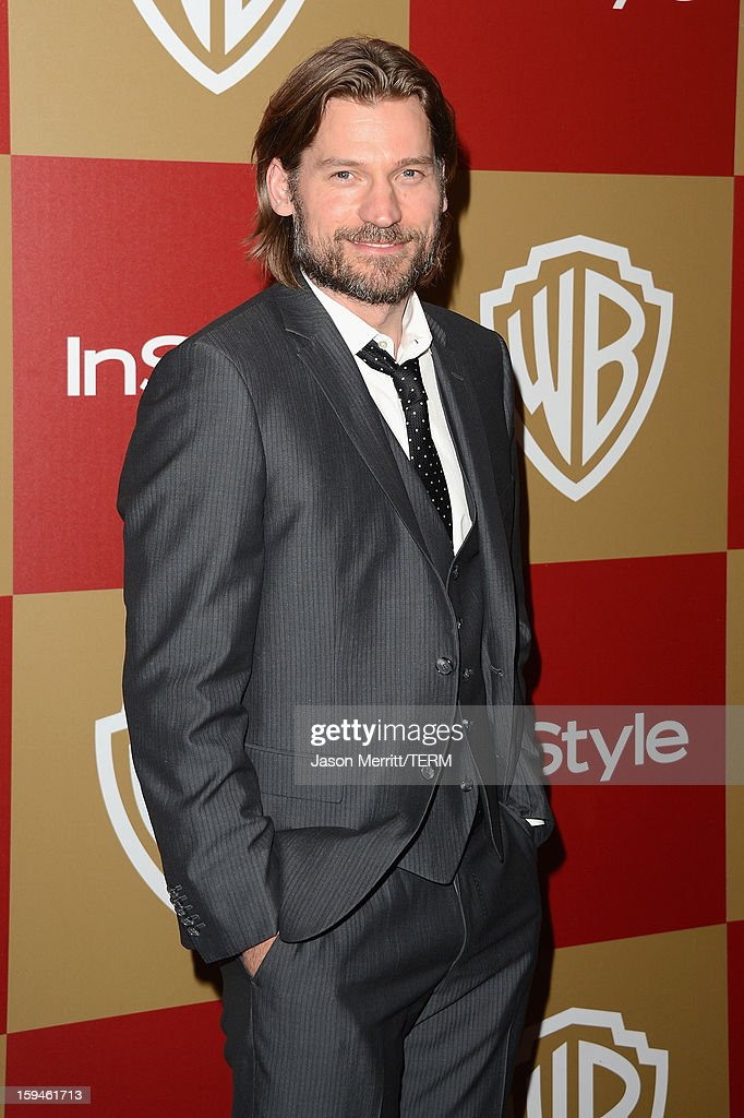 Actor Nikolaj Coster-Waldau attends the 14th Annual Warner Bros. And InStyle Golden Globe Awards After Party held at the Oasis Courtyard at the Beverly Hilton Hotel on January 13, 2013 in Beverly Hills, California.