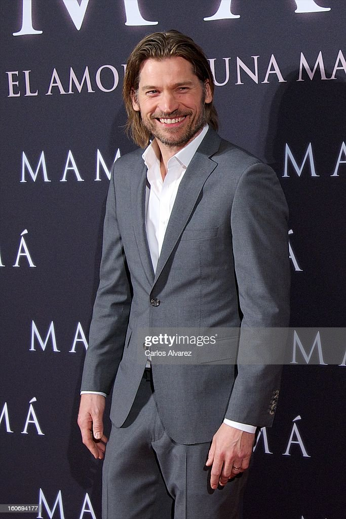 Actor Nikolaj Coster-Waldau attends the 'Mama' premiere at the Callao cinema on February 4, 2013 in Madrid, Spain.