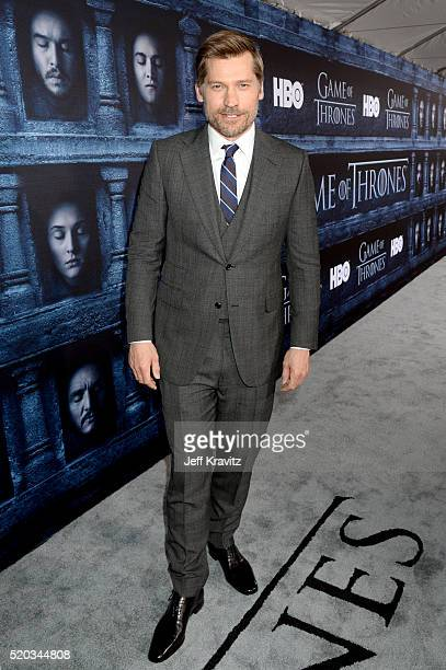 Actor Nikolaj CosterWaldau attends the premiere for the sixth season of HBO's 'Game Of Thrones' at TCL Chinese Theatre on April 10 2016 in Hollywood...