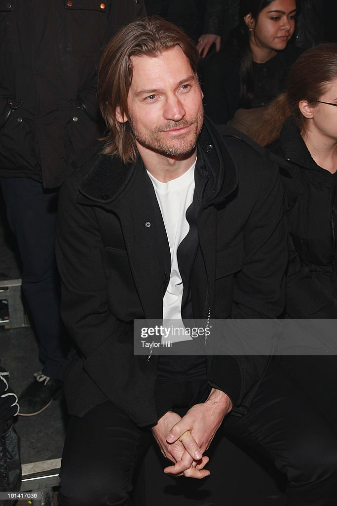 Actor Nikolaj Coster-Waldau attends the Y-3 Fall 2013 Mercedes-Benz Fashion Show at 80 Essex Street on February 10, 2013 in New York City.