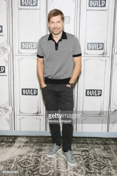 Actor Nikolaj CosterWaldau discusses his new film 'Shot Caller' at Build Studio on August 17 2017 in New York City