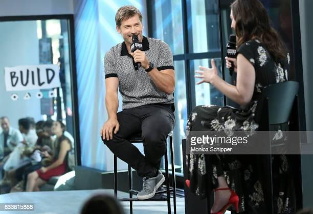 Actor Nikolaj CosterWaldau discusses his new film 'Shot Caller' at Build Studio on August 17 2017 in New York City