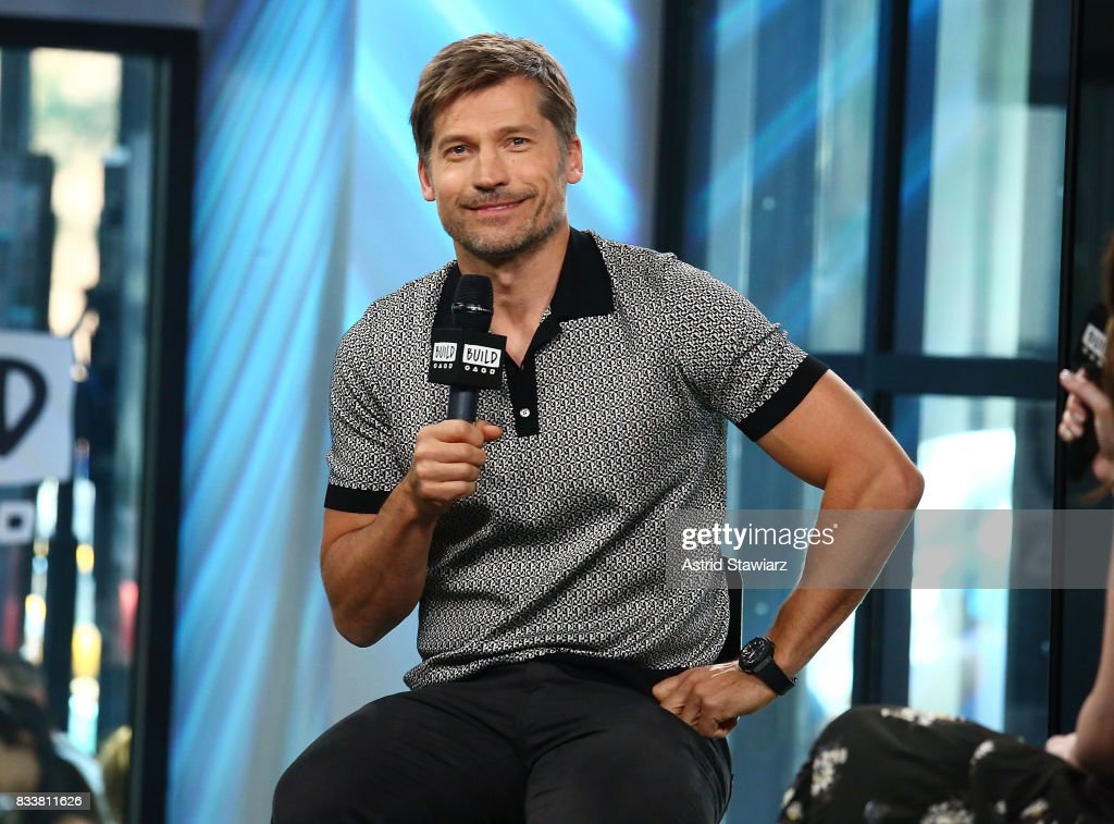 Actor Nikolaj Coster-Waldau discusses the film 'Shot Caller' at Build Studio on August 17, 2017 in New York City.