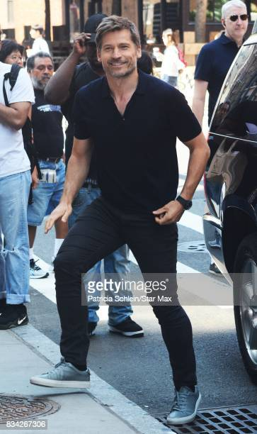 Actor Nikolaj CosterWaldau is seen on August 17 2017 in New York City