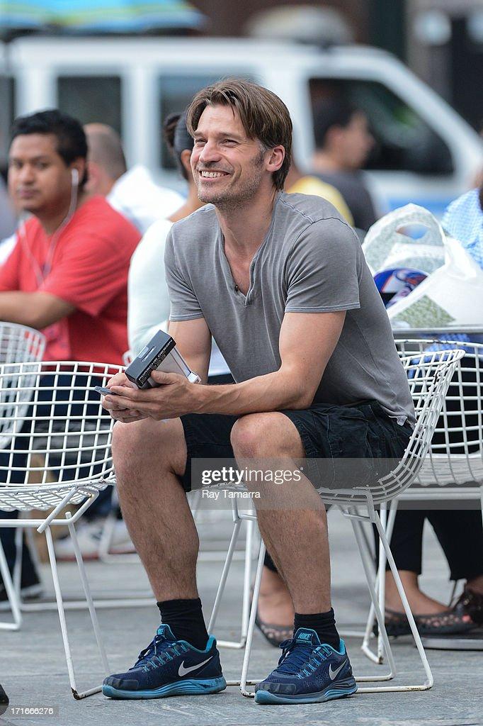 Actor Nikolaj Coster-Waldau sighting outside a Midtown Manhattan Apple Store on June 27, 2013 in New York City.