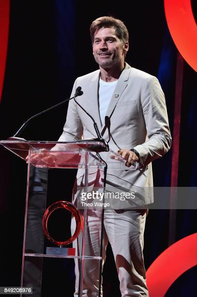 Actor Nikolaj CosterWaldau speaks onstage during Global Citizen Live at NYU Skirball Center on September 18 2017 in New York City