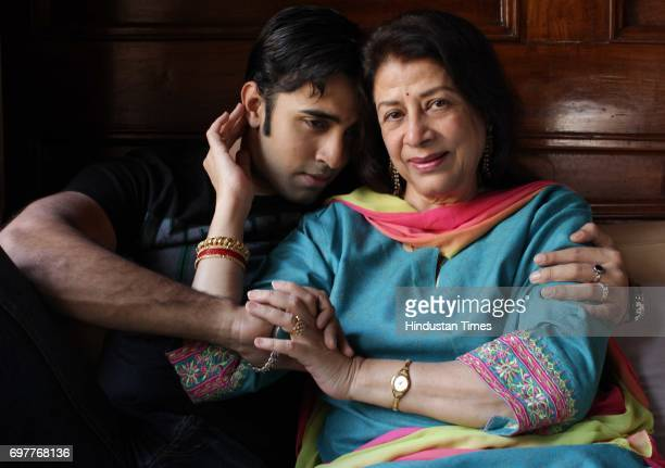 Actor Nilesh Sahay with his mother Zahida at Malabar Hill