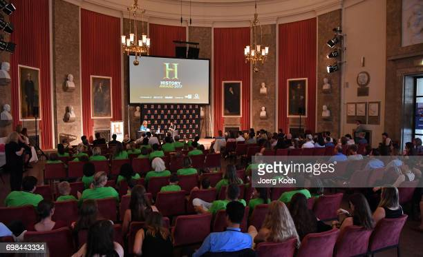 Actor Nina Eichinger hosts the HISTORY Award 2017 ceremony by TV channel HISTORY at Deutsches Museum on June 20 2017 in Munich Germany