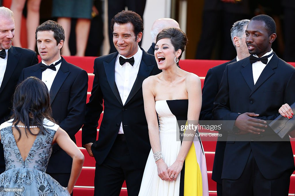 Actor Noah Emmerich, director Guillaume Canet and actors Zoe Saldana, Clive Owen, Marion Cotillard and Jamie Hector attend the 'Blood Ties' Premiere during the 66th Annual Cannes Film Festival at the Palais des Festivals on May 20, 2013 in Cannes, France.