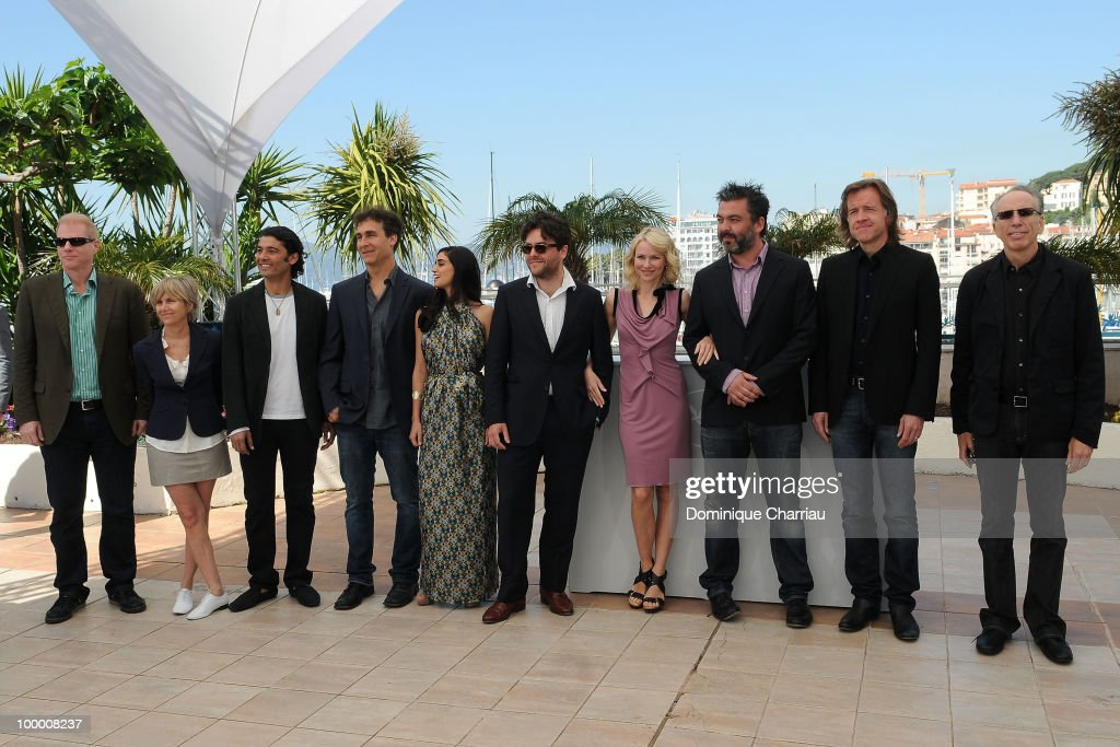 Actor Noah Emmerich, guest, Khaled Nabawy, director Doug Liman, actress Liraz Charhi, actor John-Henry Butterworth, actress Naomi Watts, actor Jez Butterworth, actor Bill Pohlad and actor Jerry Zucker attend the 'Fair Game' Photo Call held at the Palais des Festivals during the 63rd Annual International Cannes Film Festival on May 20, 2010 in Cannes, France.