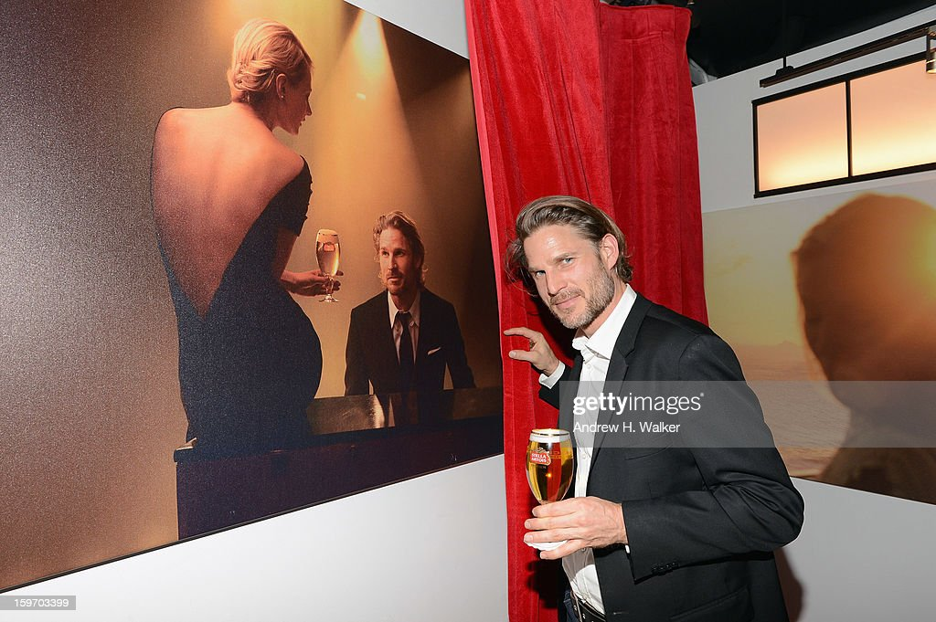 Actor Noah Huntley attends the Stella Artois launch of the Timeless Beauty Campaign shot by legendary photographer, Annie Leibovitz at Village at the Lift on January 18, 2013 in Park City, Utah.
