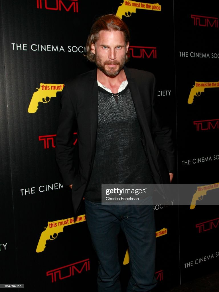 Actor Noah Huntley attends the Weinstein Company, The Cinema Society & Tumi screening of 'This Must Be the Place' at the Tribeca Grand Screening Room on October 25, 2012 in New York City.