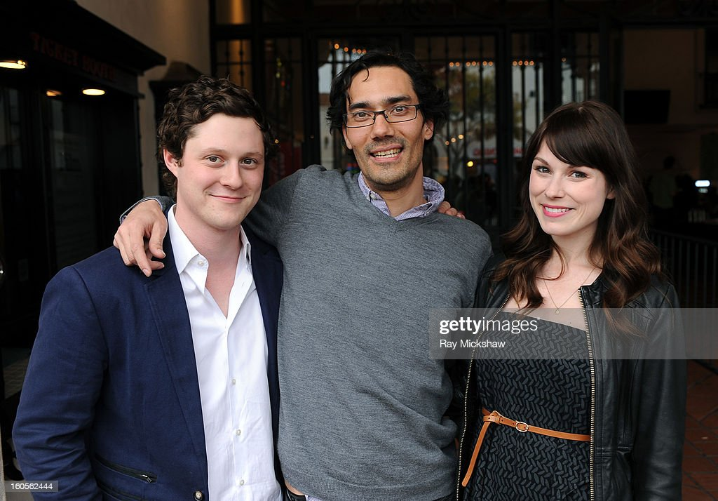Actor Noah Reid, director James Genn and actress Meghan Heffern of the film 'Old Stock' at the 28th Santa Barbara International Film Festival on February 2, 2013 in Santa Barbara, California.