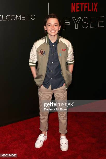 Actor Noah Schnapp arrives at the Netflix FYSee Kick Off Event at Netflix FYSee Space on May 7 2017 in Beverly Hills California