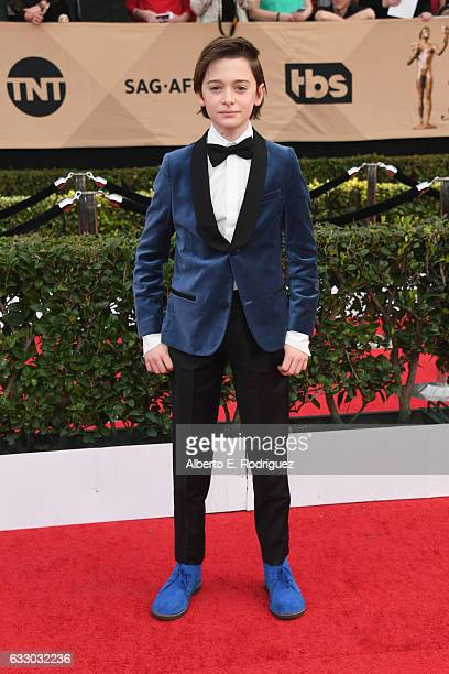Actor Noah Schnapp attends the 23rd Annual Screen Actors Guild Awards at The Shrine Expo Hall on January 29 2017 in Los Angeles California