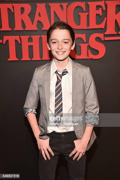 Actor Noah Schnapp attends the Premiere of Netflix's 'Stranger Things' at Mack Sennett Studios on July 11 2016 in Los Angeles California