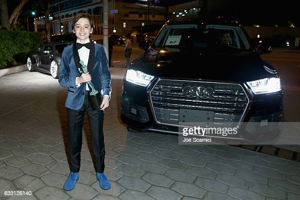 Actor Noah Schnapp attends The Weinstein Company Netflix's SAG 2017 After Party presented by Audi at Sunset Tower Hotel on January 29 2017 in West...