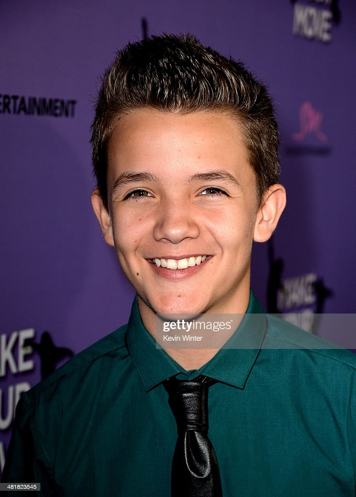 Actor Noah Urrea arrives at a screening of 'Make Your Move' at The Pacific Theatre at The Grove on March 31, 2014 in Los Angeles, California.