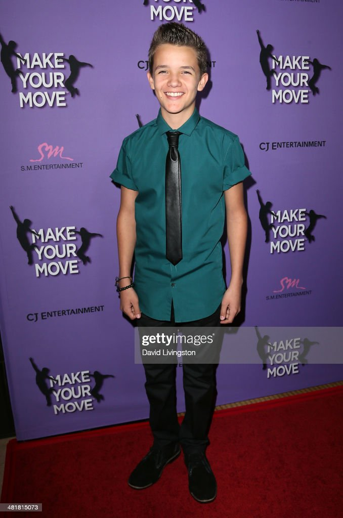 Actor Noah Urrea attends a screening of 'Make Your Move' at Pacific Theatre at The Grove on March 31, 2014 in Los Angeles, California.