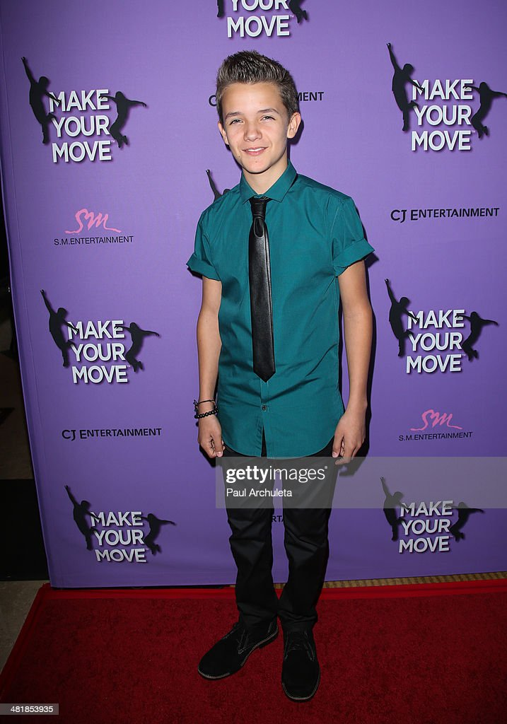 Actor Noah Urrea attends the premiere of 'Make Your Move' at the Pacific Theaters at the Grove on March 31, 2014 in Los Angeles, California.