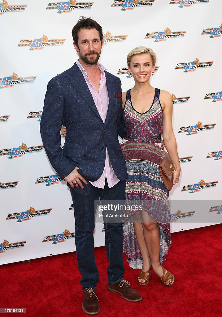 Actor <a gi-track='captionPersonalityLinkClicked' href=/galleries/search?phrase=Noah+Wyle&family=editorial&specificpeople=217263 ng-click='$event.stopPropagation()'>Noah Wyle</a> (L) and Sara Wells (R) attends the premiere of 'Snake & Mongoo$e' at the Egyptian Theatre on August 26, 2013 in Hollywood, California.