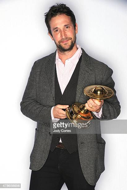 Actor Noah Wyle poses with his Artists Showcase Award at 41st Annual Saturn Awards held at The Castaway on June 25 2015 in Burbank California