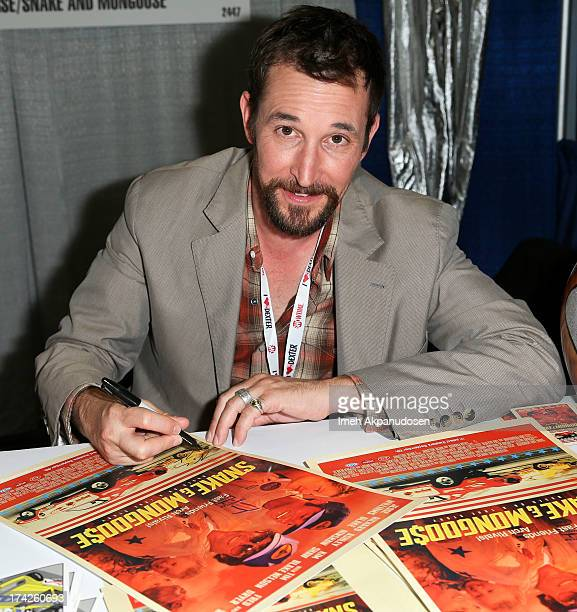 Actor Noah Wyle signs autographs for his new film 'Snake Mongoo$e' during ComicCon International 2013 at San Diego Convention Center on July 18 2013...